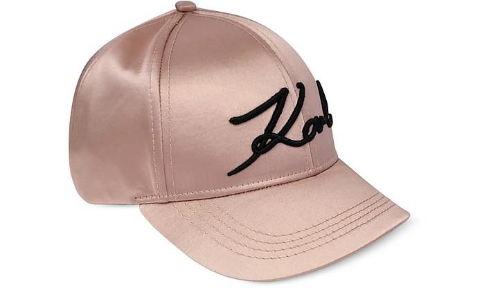 K/Signature Satin Cap - Karl Lagerfeld