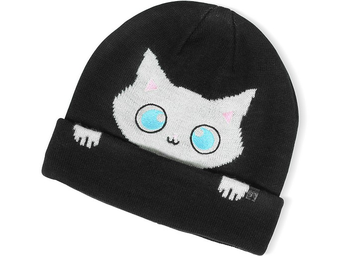 Peek a Boo Cat Women's Beanie Hat - Karl Lagerfeld