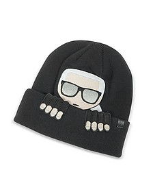 K/Ikonik Beanie Knit Hat - Karl Lagerfeld