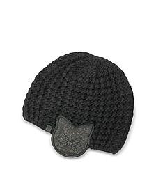 Black Choupette Earmuff Knit Hat - Karl Lagerfeld
