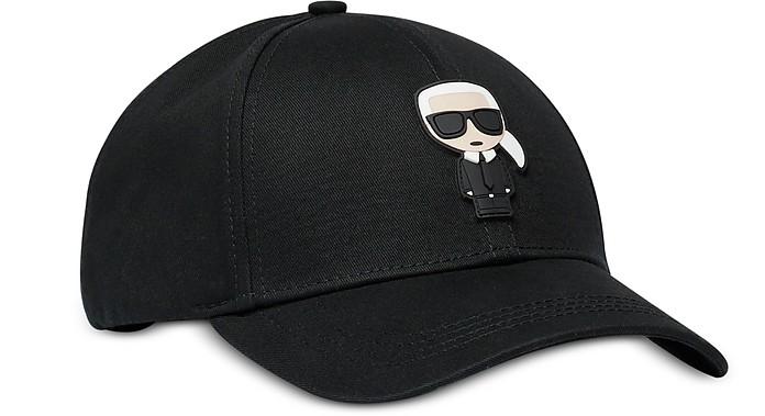 K/Ikonic Capello da Baseball in Cotone Nero - Karl Lagerfeld