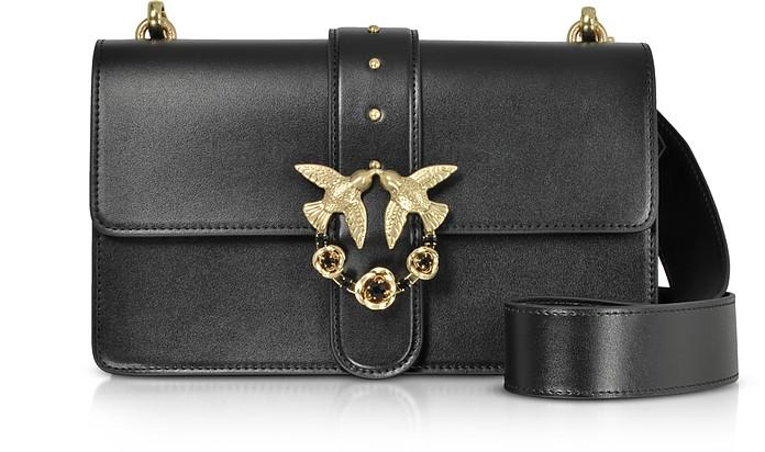 Love Abbraccio Leather Shoulder Bag - Pinko