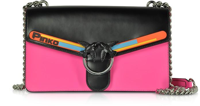 Black and Fuchsia Love Sport Shoulder Bag - Pinko