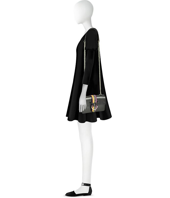 info for 1f1b4 d2f90 Black Leather Mini Love Sport Shoulder Bag