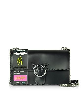 5d26ca58080fa Black Love Rubber Shoulder Bag - Pinko