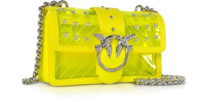 f90349ece19 Pinko Neon Yellow Mini Love Transparent Shoulder Bag at FORZIERI UK