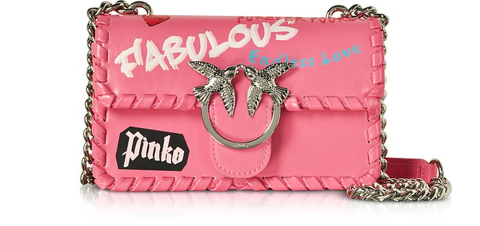 Mini Love Fabulous Leather Shoulder Bag - Pinko