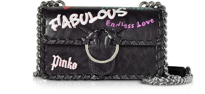 Mini Love Fabulous Leather Shoulder Bag - Pinko / ピンコ