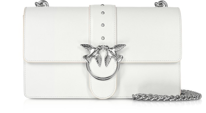 White Love Classic Simply Shoulder Bag - Pinko