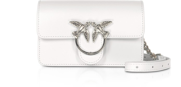 White Love Baby Simply Shoulder/Belt Bag - Pinko