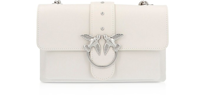 White Love Mini Soft Simply Shoulder Bag - Pinko