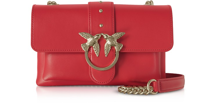 Red Love Mini Soft Simply Shoulder Bag - Pinko