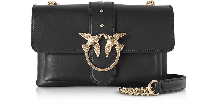 Black Love Mini Soft Simply Shoulder Bag - Pinko