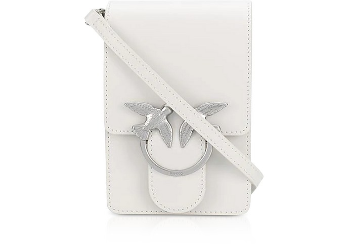 White Love Smart Simply Shoulder Bag - Pinko