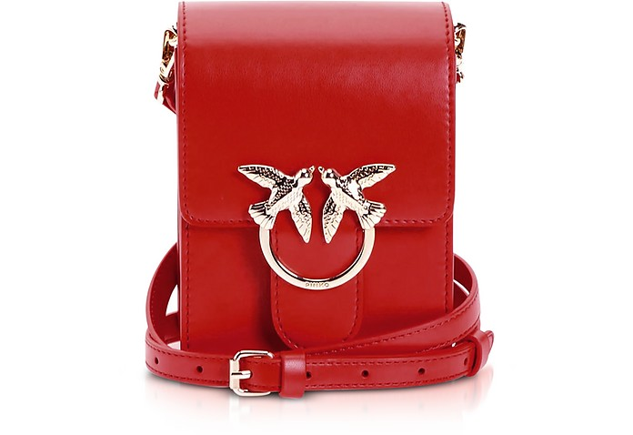 Red Love Smart Simply Shoulder Bag - Pinko