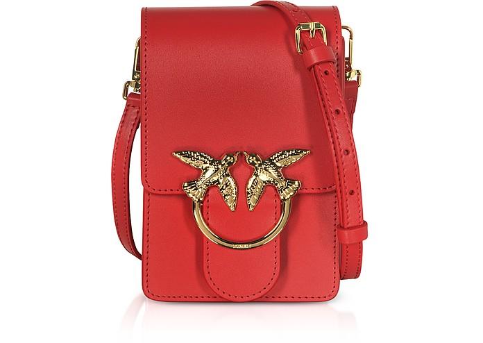 Red Love Smart Simply Shoulder Bag - Pinko