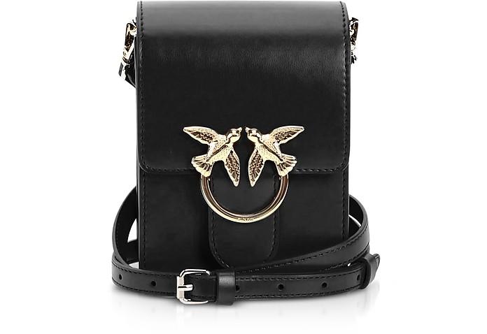 Black Love Smart Simply Shoulder Bag - Pinko