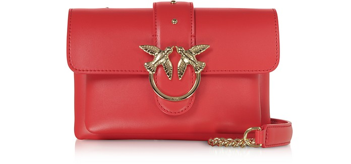 Red Love Soft Baby Simply Shoulder Bag - Pinko