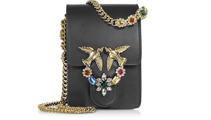 Black Love Smart Jewels Shoulder Bag - Pinko