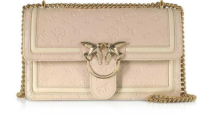 Beige Love Classic Monogram Shoulder Bag - Pinko