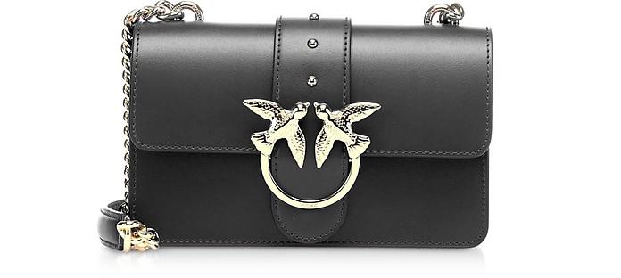 Black Love Mini Simply Leather Shoulder Bag - Pinko