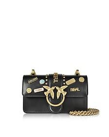 Mini Love Pins Black Eco Leather Shoulder Bag - Pinko