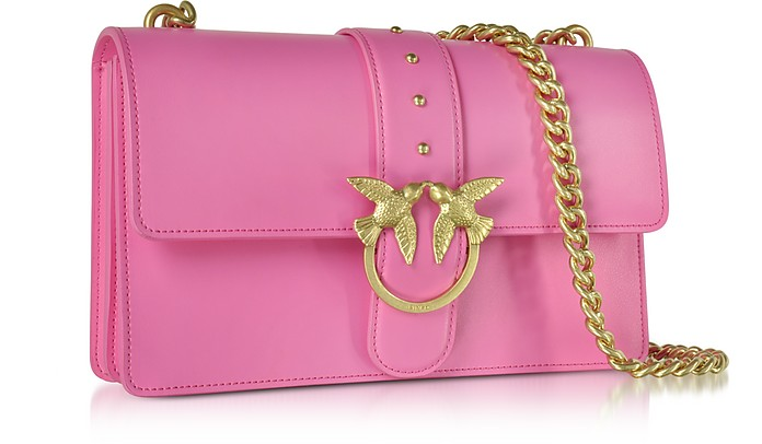 cb3d881426ba Pinko Love Simply 2 Fuchsia Eco Leather Shoulder Bag at FORZIERI UK