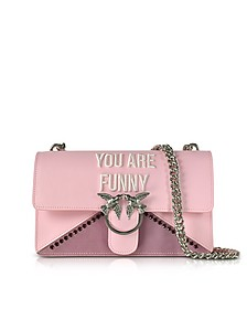 Love Funny Pink Eco Leather Shoulder Bag - Pinko