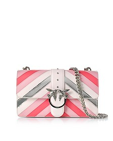 Love Stripe Intarsio Pink Eco Leather Shoulder Bag - Pinko