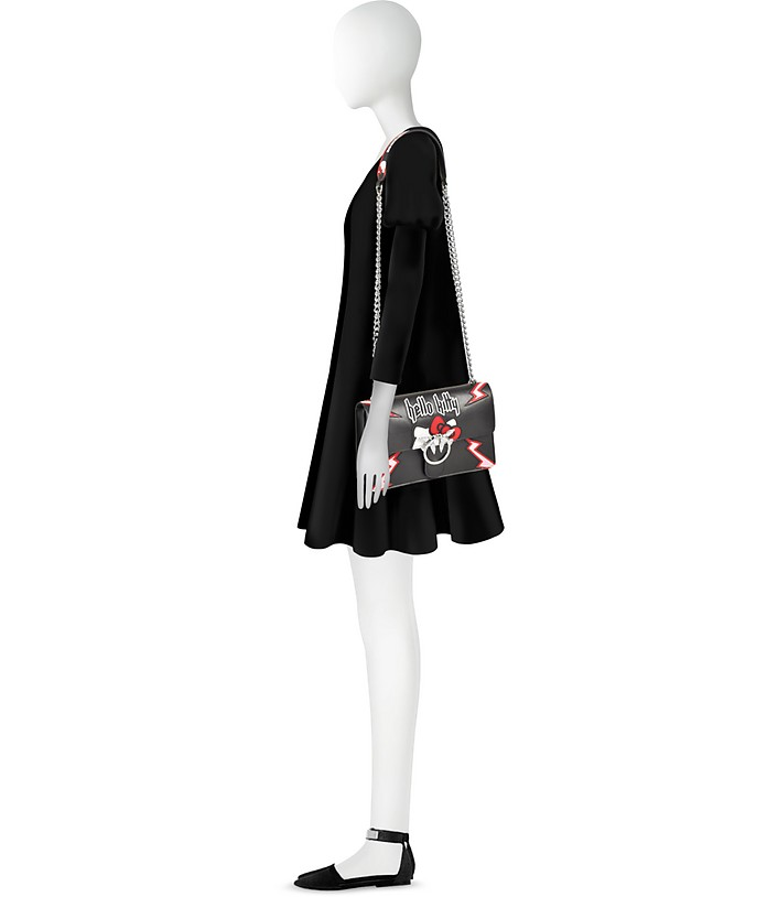Love Hello Kitty Rock Borsa Nera con Tracolla Pinko 4en6yK