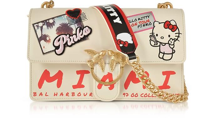 38bcabda0 Pinko Love Hello Kitty Souvernir White Eco leather Shoulder Bag at ...