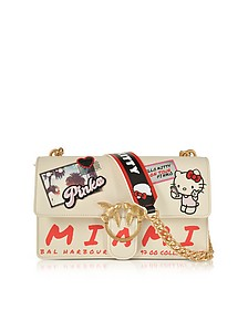 Love Hello Kitty Souvernir White Eco leather Shoulder Bag - Pinko