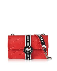 Love Hello Kitty Red Printed Eco Leather Shoulder Bag - Pinko