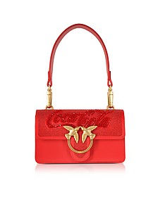Red Mini Love Paprika Shoulder Bag - Pinko