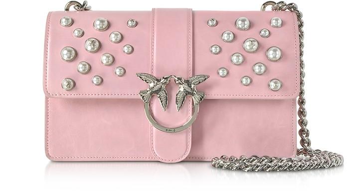 Love Leather Pearls Shoulder Bag - Pinko