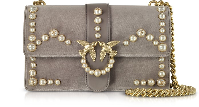 Love Velvet Pearls Shoulder Bag - Pinko