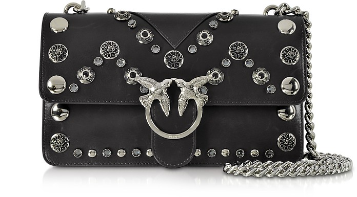 Love Maxi Studs Leather Shoulder bag - Pinko