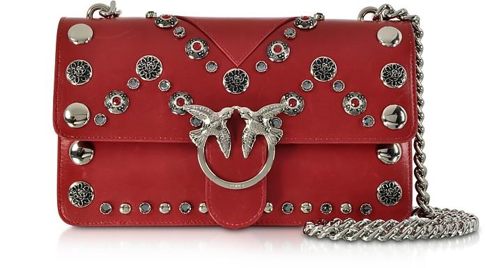 Love Maxi Studs Leather Shoulder bag - Pinko