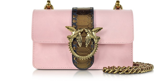 Light Pink Mini Love Python Western Shoulder Bag - Pinko