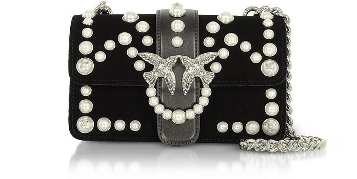 los angeles d426b ec7e5 Mini Love Velvet Pearls Shoulder Bag
