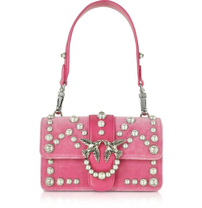 Mini Love Velevet Pearls Shoulder Bag - Pinko