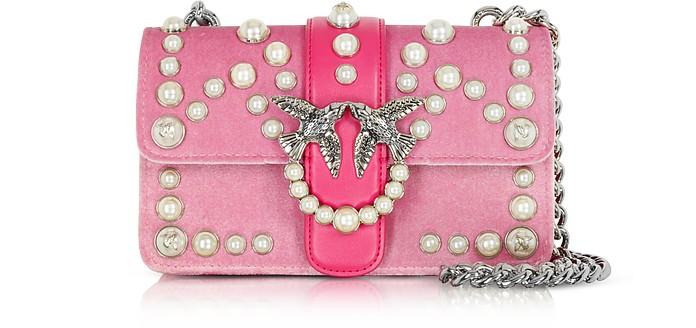 Mini Love Velvet Pearls Shoulder Bag - Pinko