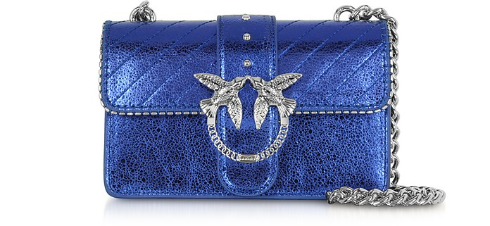 Mini Love Metallic Quilted Leather Shoulder Bag - Pinko