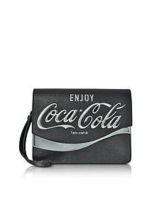 Solitario Black Eco Leather Clutch - Pinko