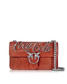 Love Trilogy Red Leather Shoulder Bag - Pinko