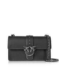 Love Simply Black Leather Shoulder Bag - Pinko