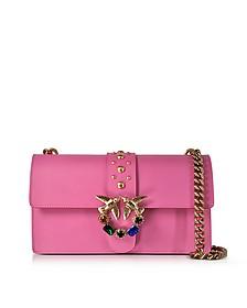 Love Pink Jeweled Leather Shoulder Bag - Pinko