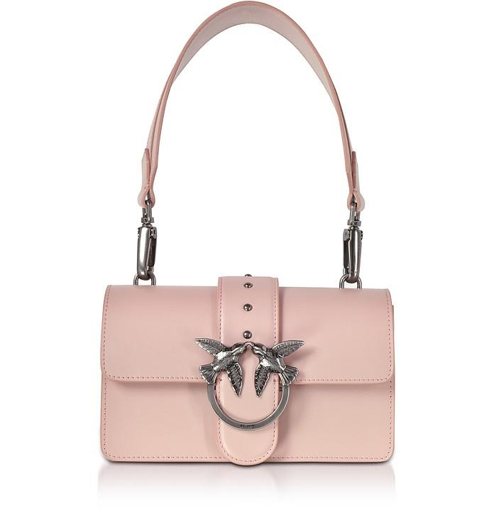 Pelle Love Antico Tracolla Borsa Rosa In Borchie Mini Pinko Con qUX4dBw