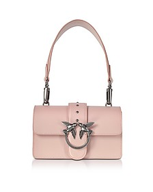 Mini Love Antique Pink Leather Shoulder Bag - Pinko