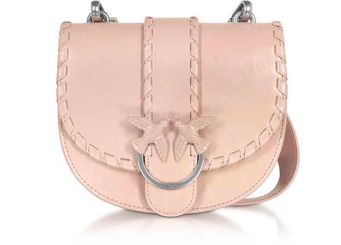 Light Pink Round Love Twist Crossbody Bag - Pinko